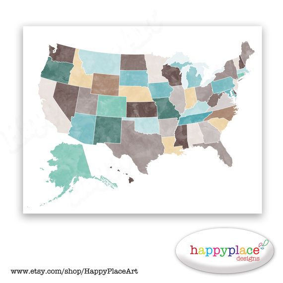 Large United States Of America Map In Large Custom Sizes And Personalised Text And Heart Icon If Needed Custom Colours Are Also Available See The