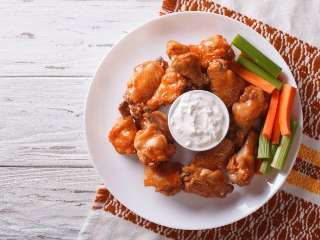 A 5-star recipe for Real Anchor Bar Buffalo Wings made with chicken wing, hot sauce, butter, white vinegar, celery seed, cayenne pepper, red pepper
