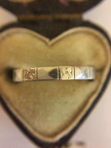 Антикварная гравировка тяжелых декоративных Платиновое обручальное кольцо кольцо необычное | eBay