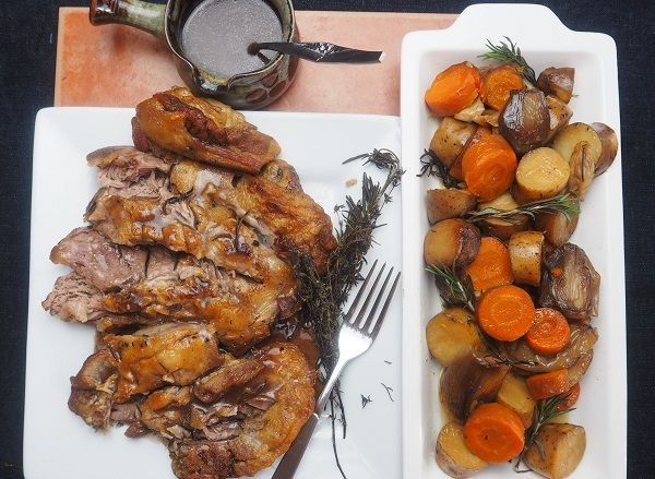 Slow Cooked Lamb Shoulder and Red Wine Pot Roast