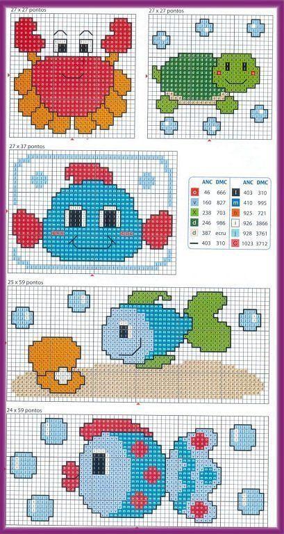 graficos infantiles punto de cruz | Aprender manualidades es facilisimo.com: