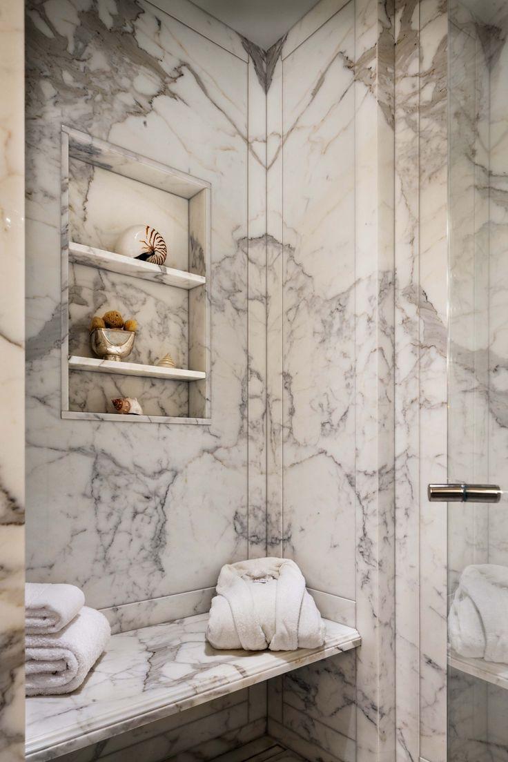 Brown marble bathroom miles redd - John B Murray Architect