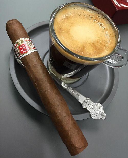 Habano & Coffe, breakfast of champions.