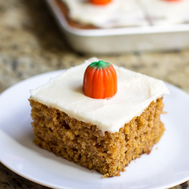 Pumpkin Bars with Cream Cheese Frosting culinaryhill.com