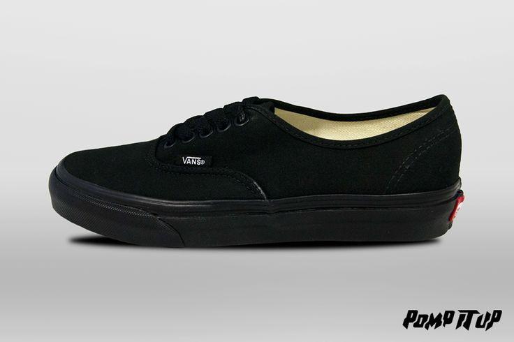 Vans Authentic Black/Black Sizes from 36 to 46 EUR Price: CHF 79.- Unisex  #Vans #Authentic #Sneakers #SneakersAddict #PompItUp #PompItUpShop #PompItUpCommunity #Switzerland