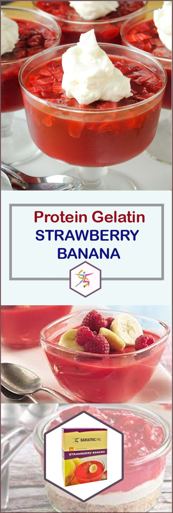 BariatricPal Protein Gelatin Strawberry Banana has a familiar and sweet taste, but none of the sugar. You may want to stock up for your pre-op or post-op liquid diet, or for those days when you need an easy, guilt-free treat.