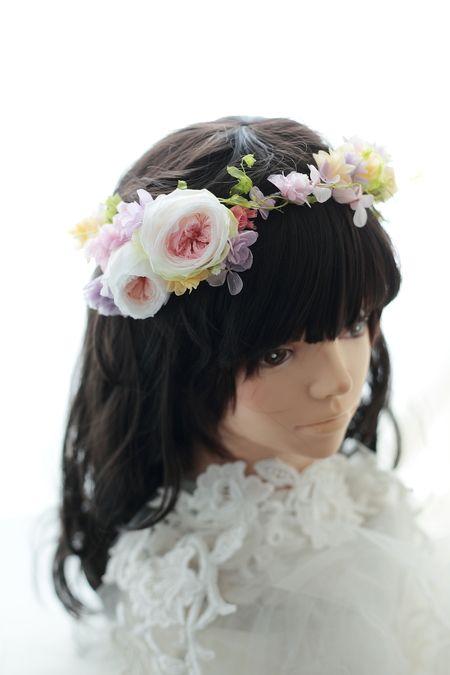 二次会用の花冠とリストレット 日比谷パレス様へ : 一会 ウエディングの花