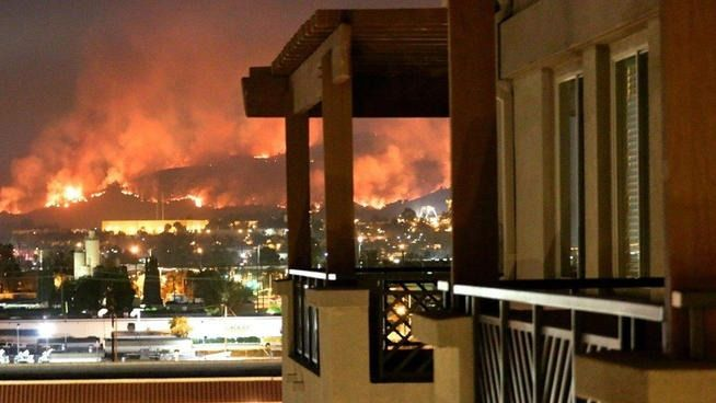 San Diego County fire roars to life - Action News Now - The San Diego County sheriff says nearly 33,000 evacuation notices have been issued due to a wildfire burning around the city of San Marcos. The fire is currently the most dangerous of nine wildfires that have erupted in the county this week. The fire has grown to 1,000 acres and is only 5 percent contained.