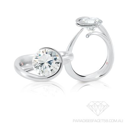 Saachi -  'Divine'   www.paradisesfacet58.com.au  The flowing movement of this designer setting gives this piece lasting grace and beauty.