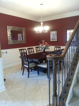 Formal maroon by behr home ideas for Traditional dining room paint ideas