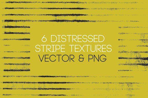 6 Distressed Stripe Texture Vectors by Modern Design Elements on @creativemarket