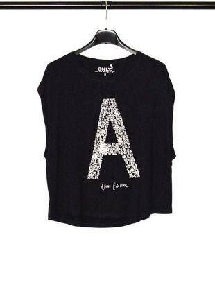 Kup mój przedmiot na #vintedpl http://www.vinted.pl/damska-odziez/koszulki-z-krotkim-rekawem-t-shirty/13519397-granatowy-t-shirt-literka-a-only-m-nowe
