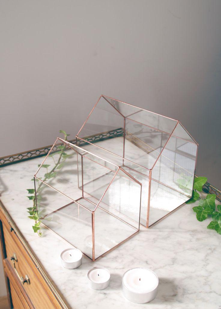 Little glass house - Geometric terrarium - Tiffany stained glass - Wedding envelope box - Wedding box for cards - Gift - Home decor by AlexaWorkshop on Etsy https://www.etsy.com/listing/470734222/little-glass-house-geometric-terrarium
