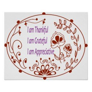 Gratitude Affirmation Posters