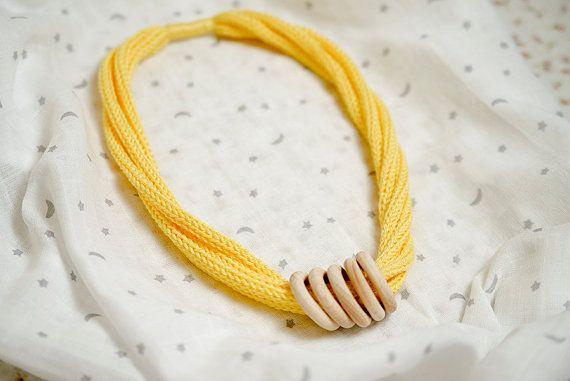 vegan necklace teething wooden teether wooden rattlebaby