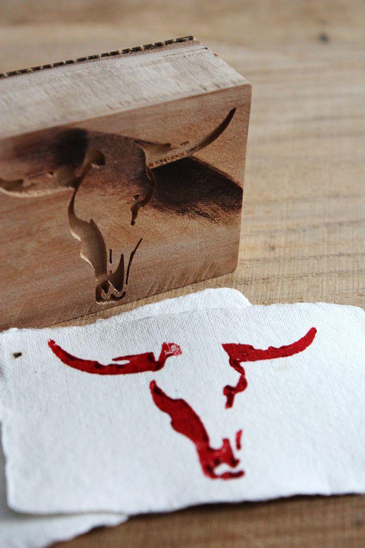 stamp #slowprint #stamp #bull