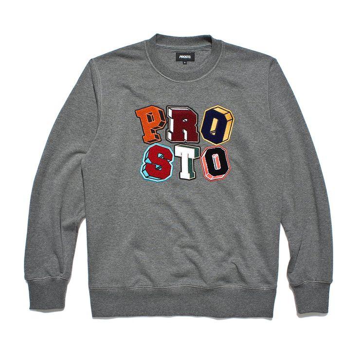 Bluza bez kaptura PLAY GREY Męska bluza zadrukowana autorskim wzorem kamuflażu, na piersi szenilowe litery Prosto.