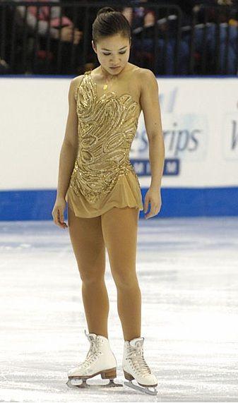 Michelle Kwan Gold/Natural-hued Figure Skating / Ice Skating dress inspiration for Sk8 Gr8 Designs.