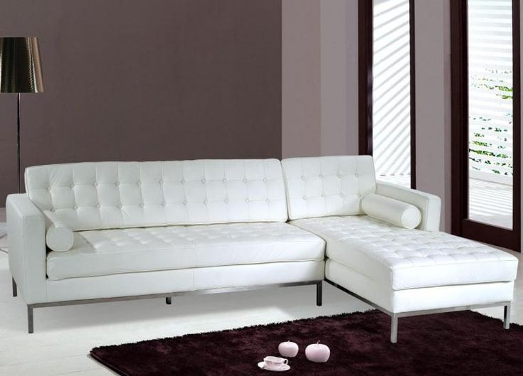 Best 25+ White Leather Sectionals Ideas On Pinterest | Cream Leather  Sectional, White Leather Sofa Bed And Cream Sectional