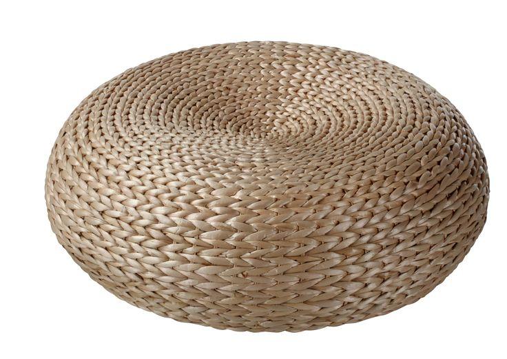 Le pouf en osier, un indispensable dans votre salon. Pouf Bahia disponible sur BUT.fr