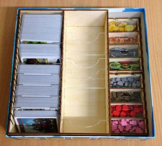 Imperial Settlers board game wood insert to by BoardGamesFactory