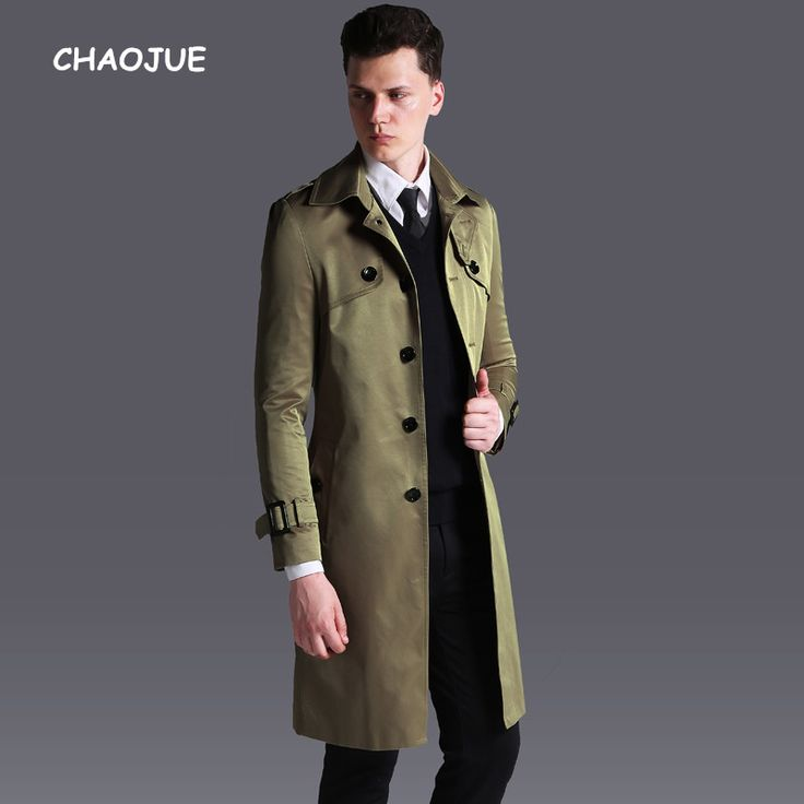 >> Click to Buy << CHAOJUE New Arrivals Long Trench Coat for mens Single Breasted Slim Fit Khaki Pea Coat England Male Plus Size 6XL Overcoat #Affiliate