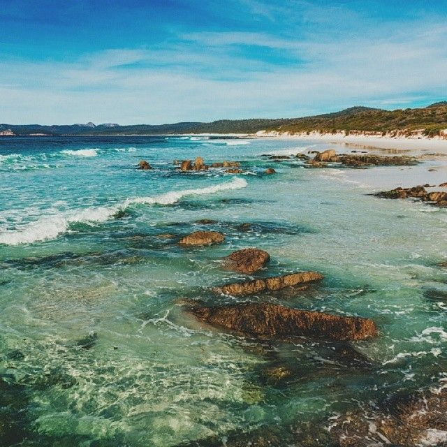 Friendly Beaches, Freycinet National Park. #beach #tasmania #discovertasmania Image Credit: Matt Galastonbury