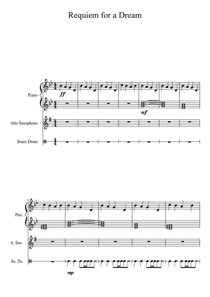 dream dream musescore sheet piano sheet music for 3 music note requiem ...