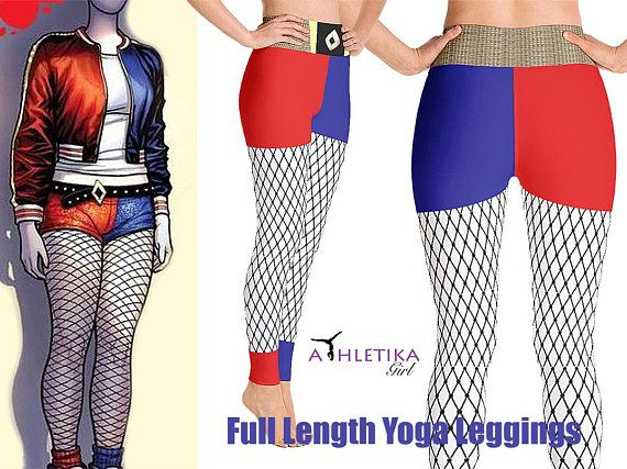 Harleyquinn Leggings Cosplay Comics Superhero Outfit Set