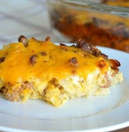 This looks awesome, I've been looking for a good breakfast casserole - Sausage and Hash Brown Bake | The Savvy Kitchen #sponsored #breakfast #recipe #yum