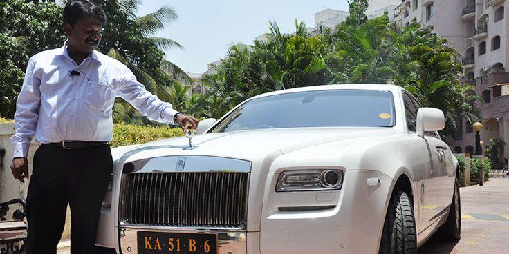 Ramesh Babu, the barber who owns a Rolls Royce