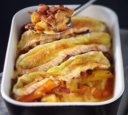 Tartiflette Président aux patates douces | Envie de bien manger http://www.enviedebienmanger.fr/recettes/tartiflette
