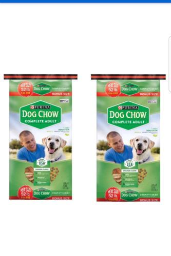 Dog Food 66780: 2 Purina Dog Chow Complete Adult Dog Food 52 Lb. Bags. Bulk 104Lbs -> BUY IT NOW ONLY: $59.99 on eBay!