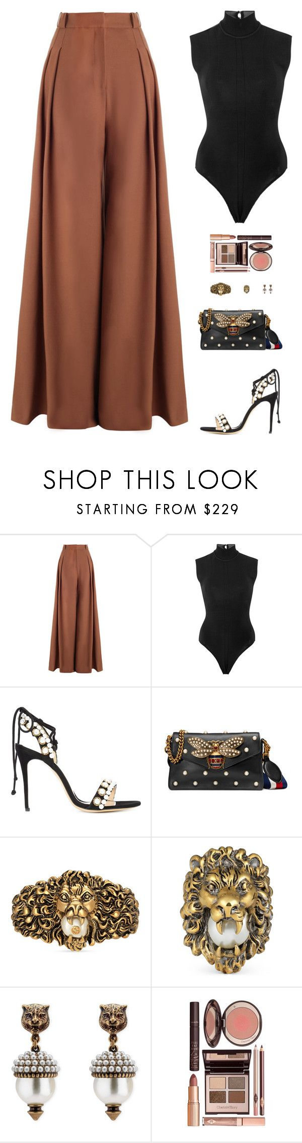 """""""Sin título #5307"""" by mdmsb ❤ liked on Polyvore featuring Zimmermann, Monique Lhuillier, Gucci and Charlotte Tilbury"""
