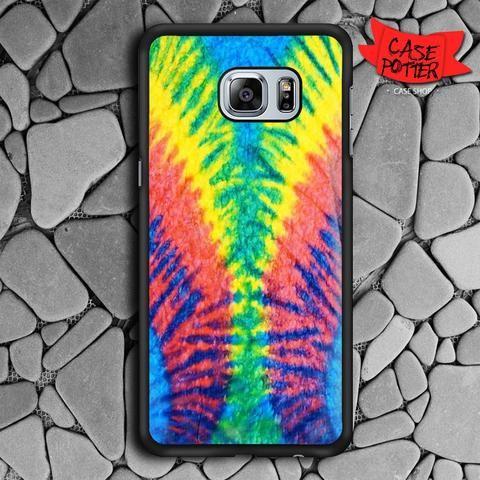 Tie Dye Multi Color Cut Spiral Samsung Galaxy S6 Edge Plus Black Case