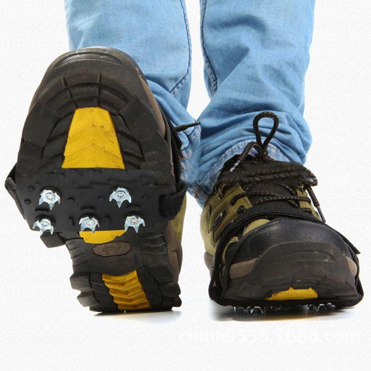 Berjalan Cleat Ice Gripper Anti Slip Salju Sepatu Crampon Spike Grip Hikking Climbing Ski Salju Anti Skid Sepatu Mencakup ISP