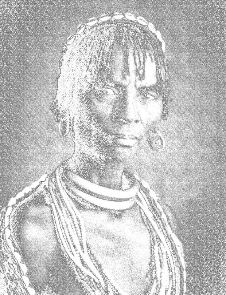 женщина из племени Хамер