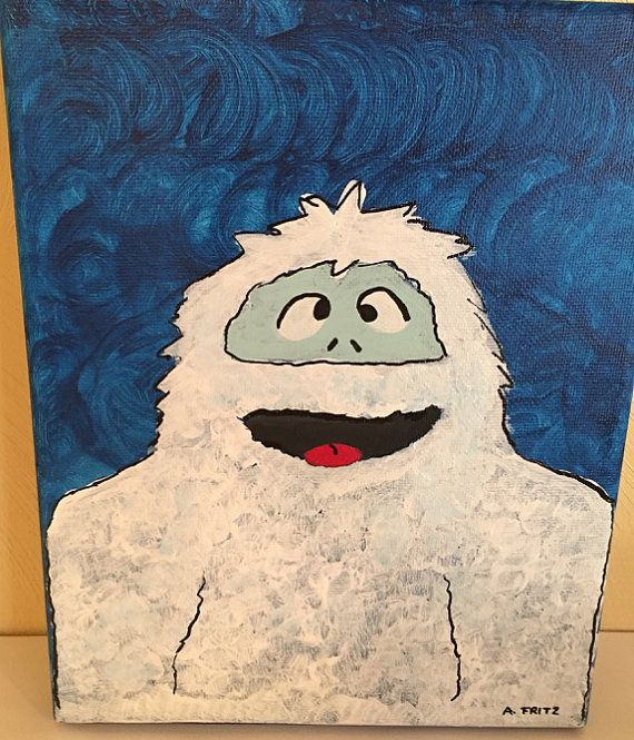 Bumble 8x10 Canvas Bumble Rudolph the Red by NightBirdsDesign