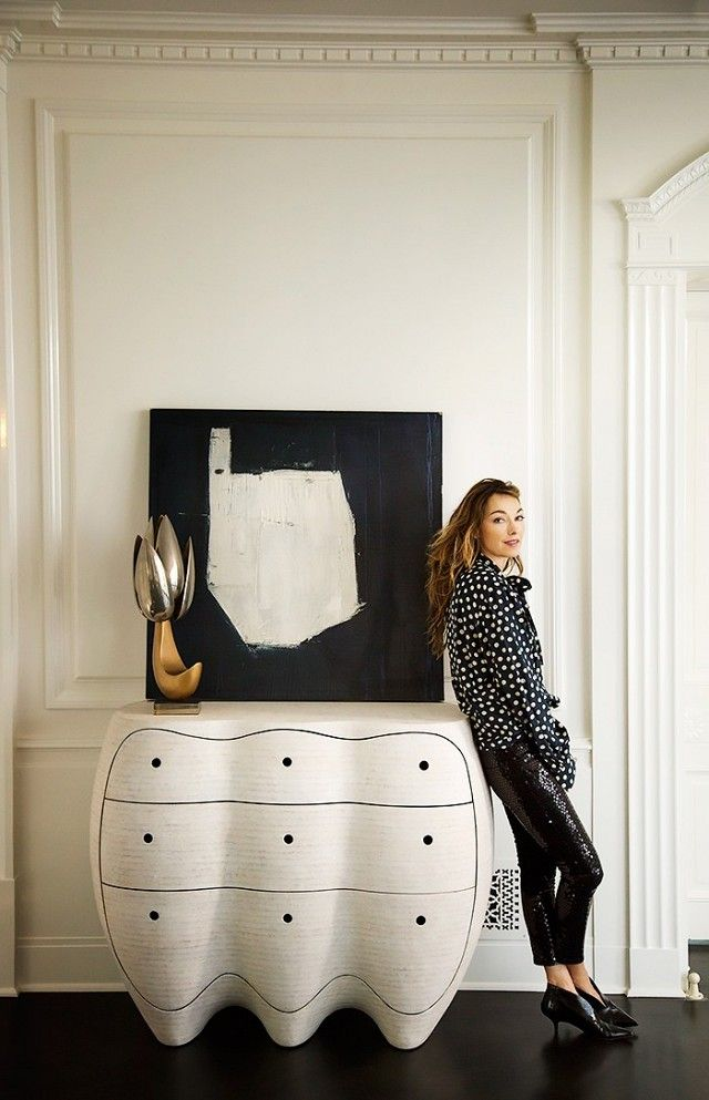 Kelly Wearstler inside an elegant minimalist space