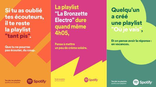 Nouvel affichage publicitaire  Ton été tes playlists !  par Spotify