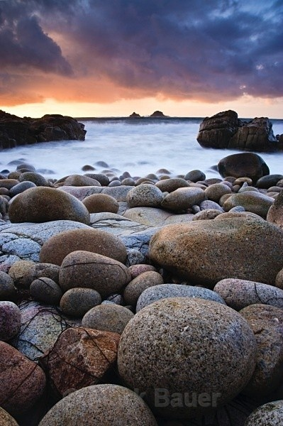 A winters evening, Porth Nanven