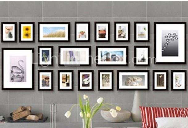 fotowand, horizontale band, ribba fotolijsten Door Inez