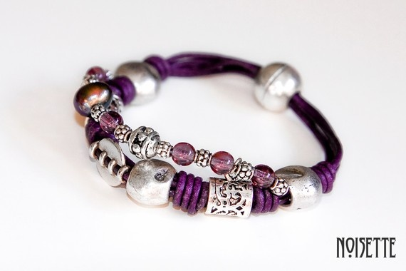 Lilac leather strap and other parts more it's by noisettee on Etsy, €30.00