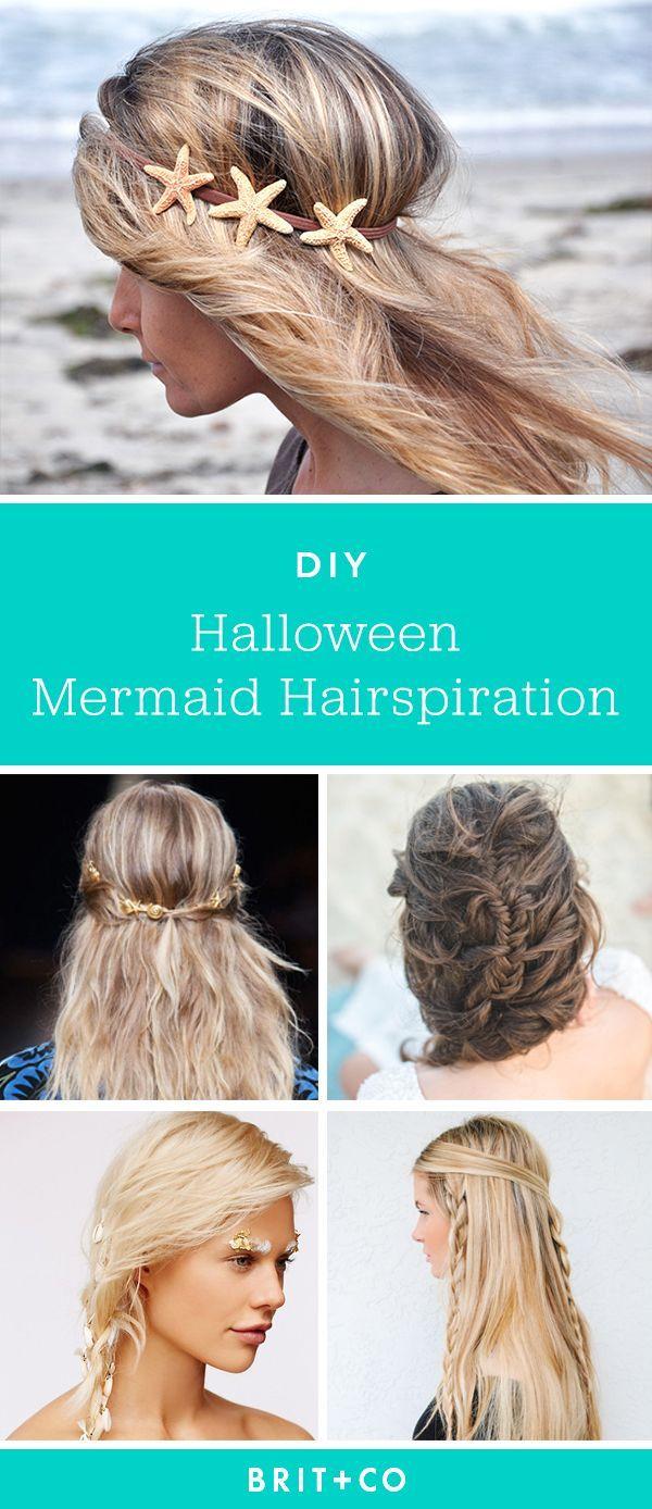 Complete Your Mermaid Halloween Costume With These Hairstyles Meerjungfrauenhaar Meerjungfrau Kostum Haar Styling