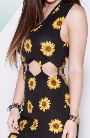 Twisted Sunflower Cutout Dress - The Kendall & Kylie Collection for Pacsun EUR 30.98