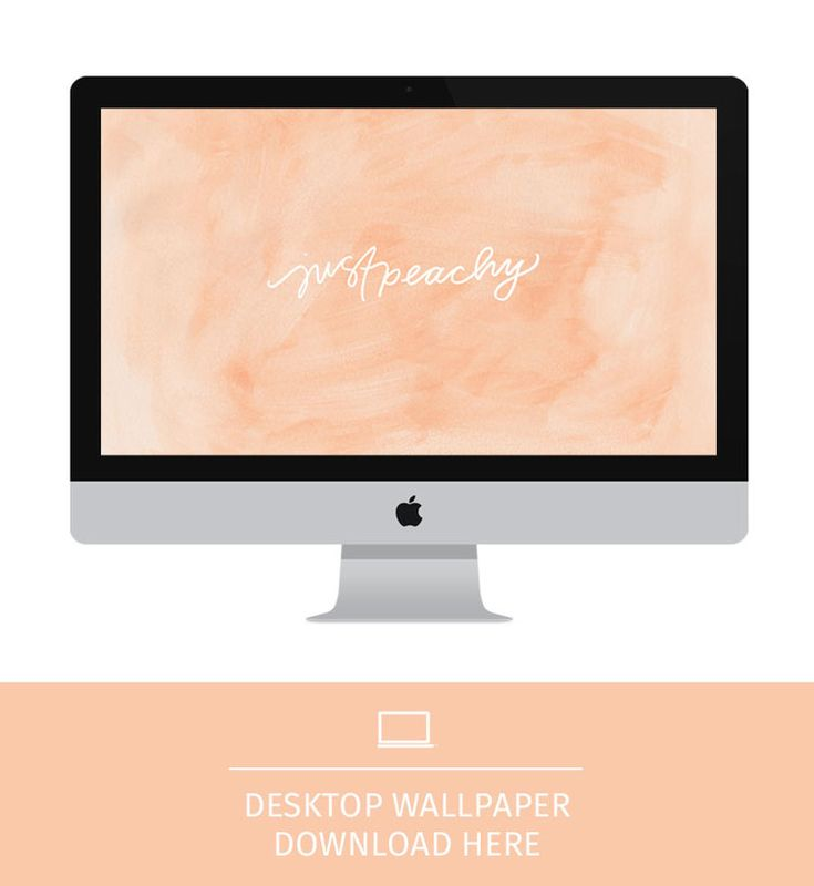 Free Wallpaper: Just Peachy || Pommel Lane