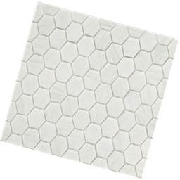 mosaic glass hexa white