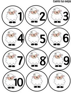 Sheep printables- farm unit (use cotton balls to have that number on circle.)