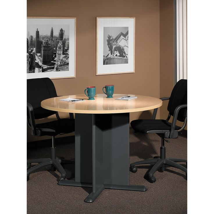 Bush Business Furniture Series C 42 Inch Round Conference Table in Beech