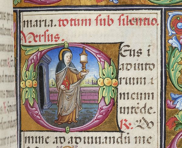 Book of Hours, M.256 fol. 66r - Images from Medieval and Renaissance Manuscripts - The Morgan Library & Museum STª CLARA